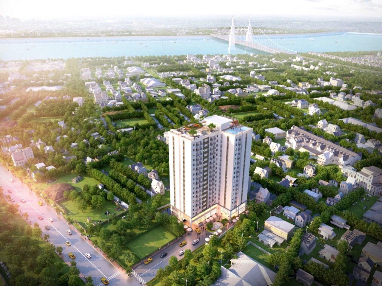 Phối cảnh dự án căn hộ STplus Riverview Bình Dương