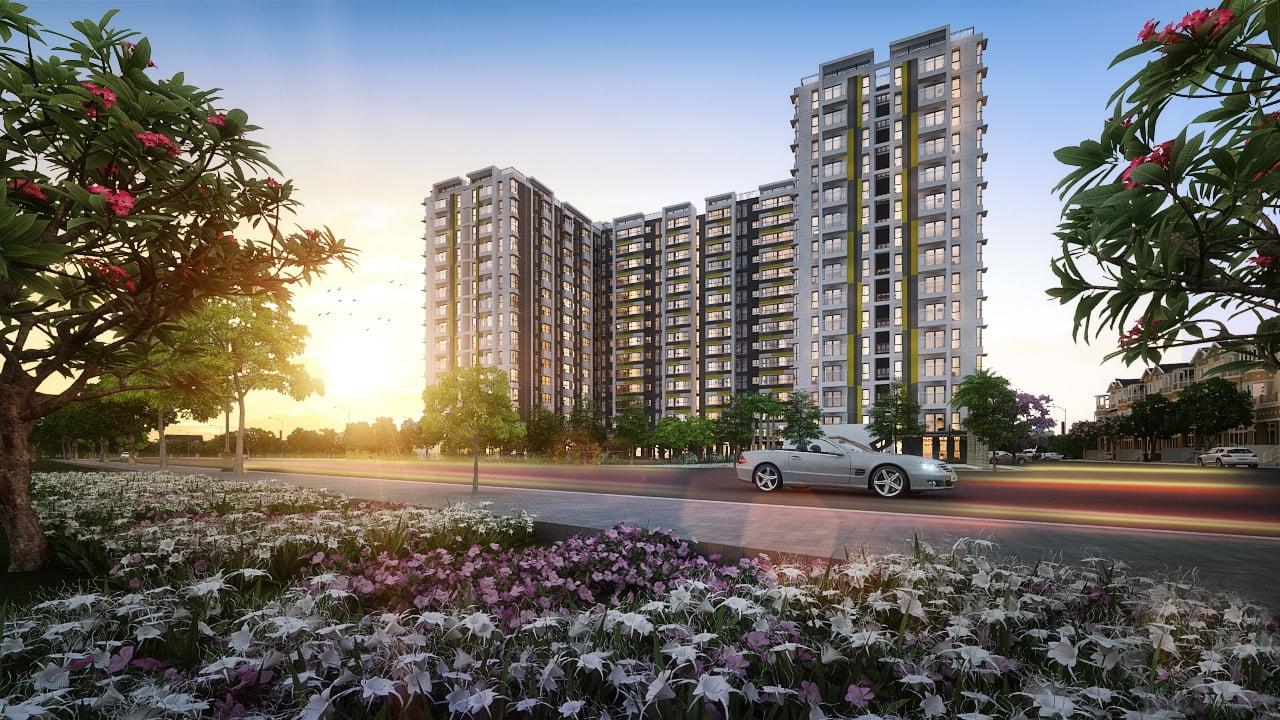 Phối cảnh dự án chung cư Flora Anh Đào