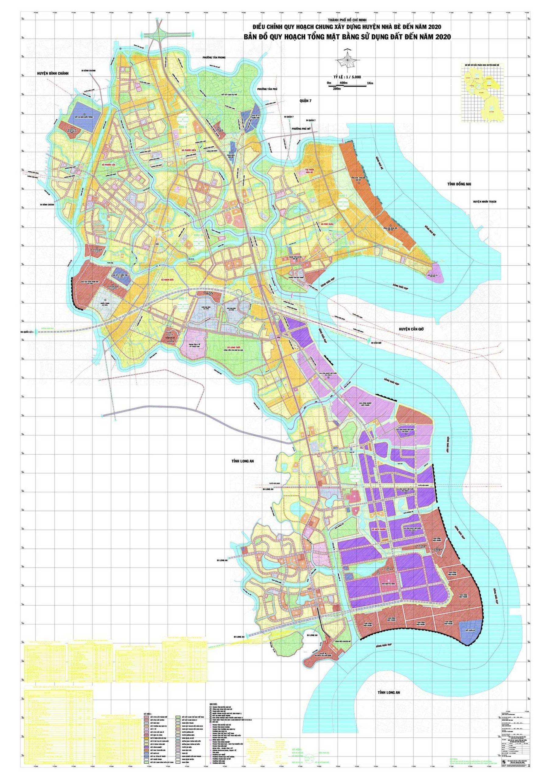 Quy hoạch huyện Nhà Bè giai đoạn 2020, cập nhật quy hoạch mới nhất