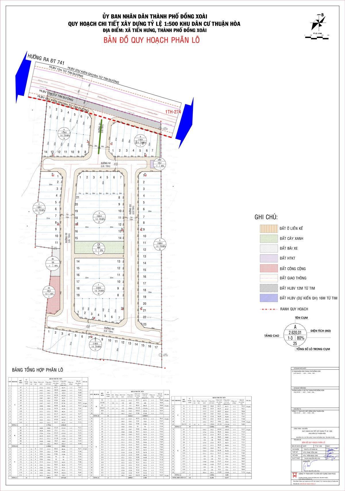 Thông tin 1/500 quy hoạch của dự án