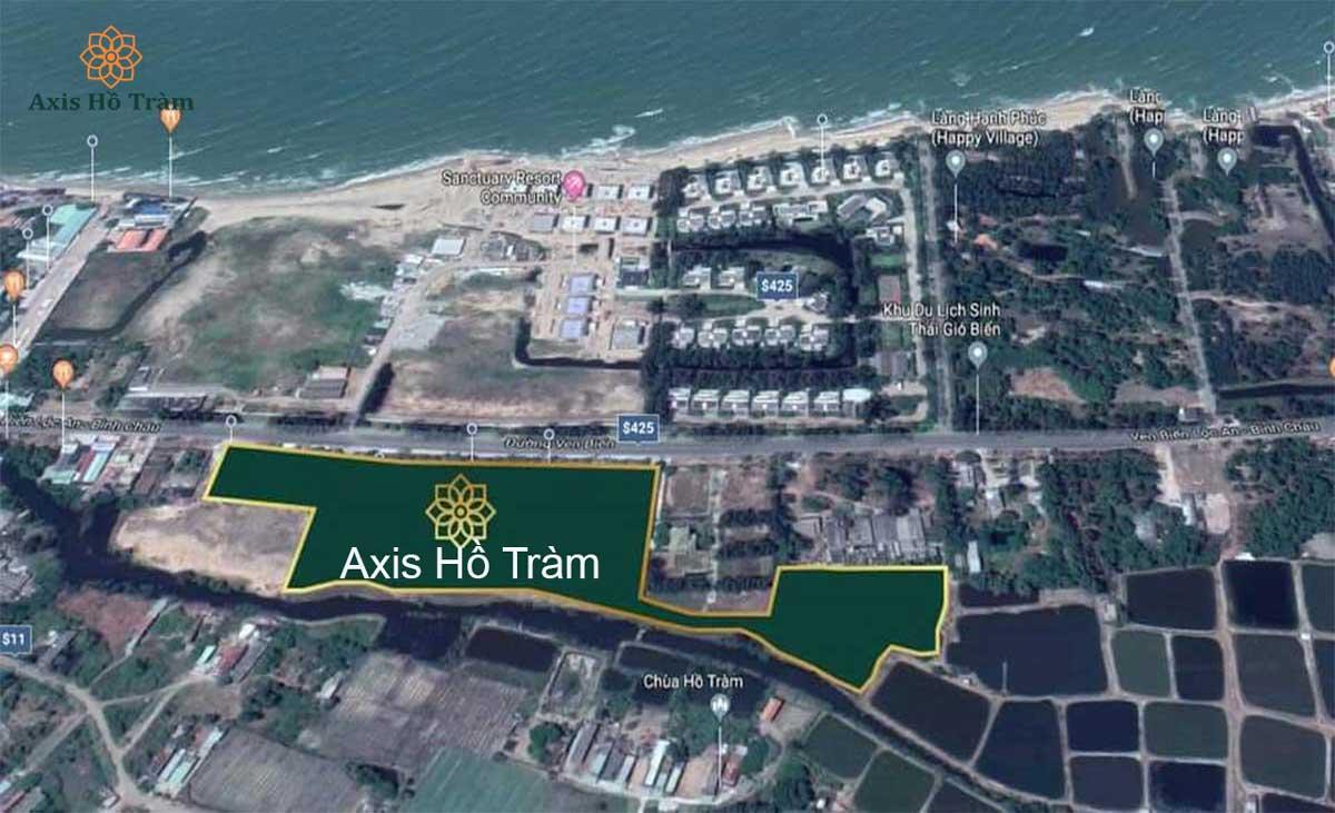 Vị trí khu nghĩ dưỡng Axis Hồ Tràm Bà Rịa - Vũng Tàu