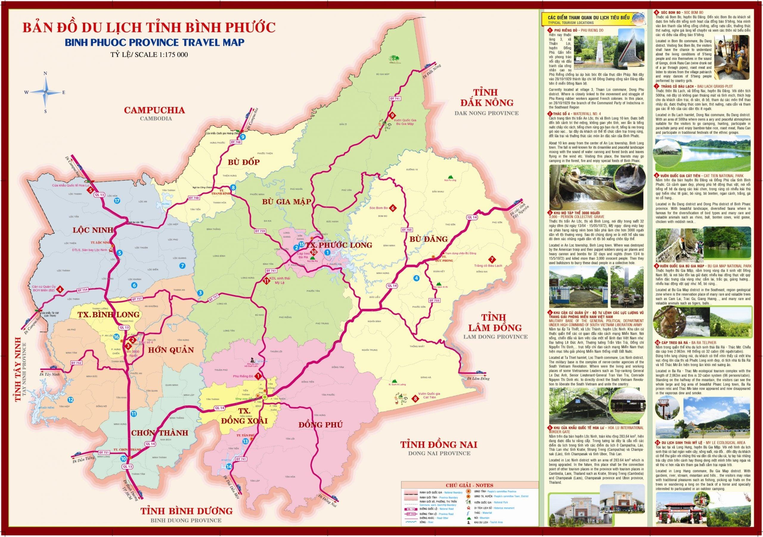 ban do du lich tinh binh phuoc scaled - #1 Cảm nhận và đánh giá các dự án đất nền tỉnh Bình Phước năm 2020