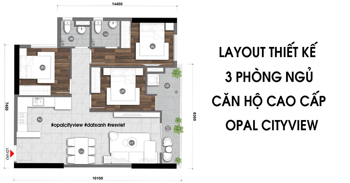 Opal CityView Đất Xanh - Dự án căn hộ Opal CityView Bình Dương