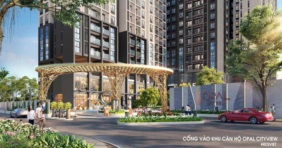 Phối cảnh cổng vào khu căn hộ cao cấp Opal Cityview