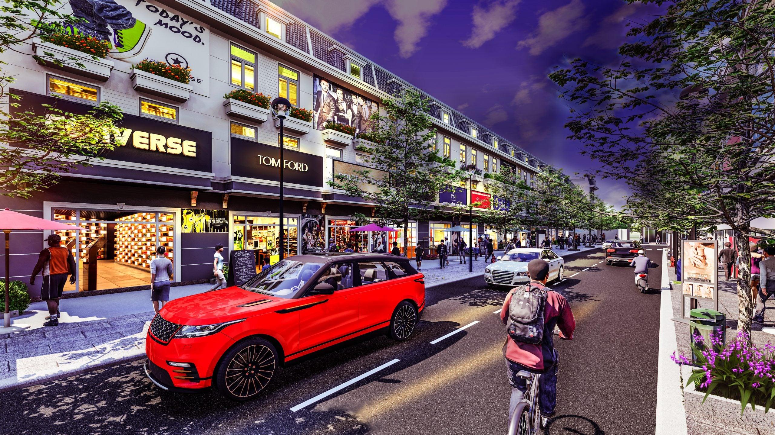Phối cảnh dự án Đại Phát Mall Town
