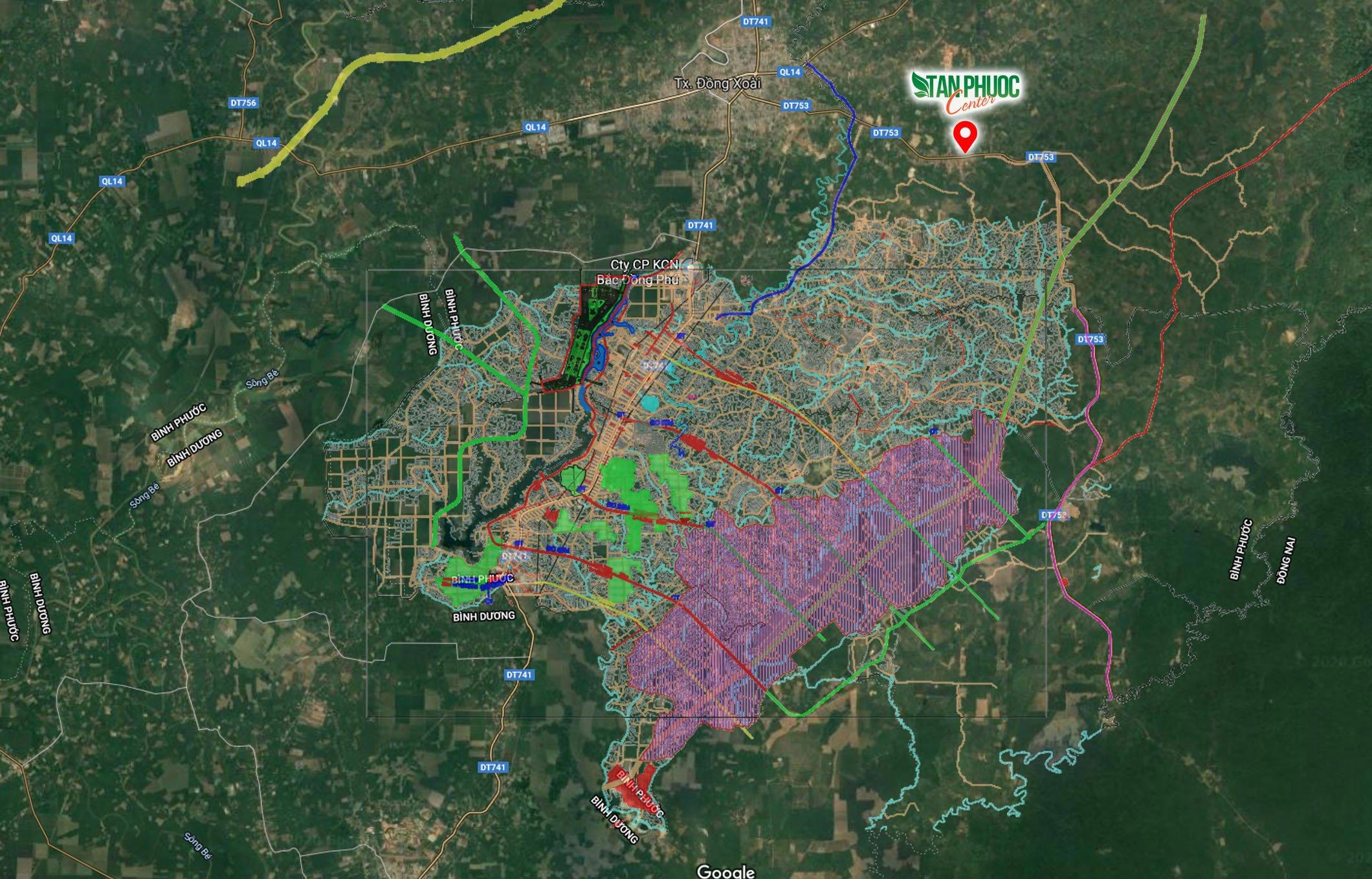 Khu công nghiệp Đồng Phú Becamex IDC 6300ha