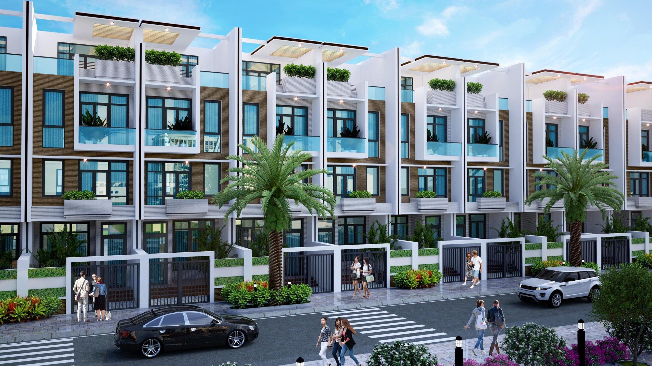 Thiết kế nhà phố tại dự án