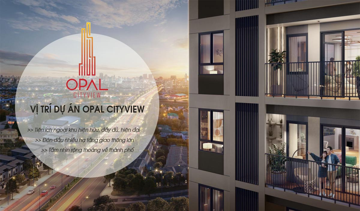 View từ dự án căn hộ Opal Cityview Bình Dương