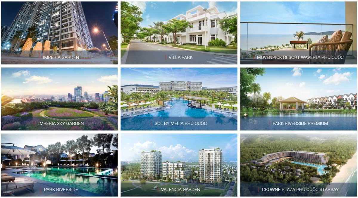 1 số Dự án bất động sản của MIKGROUP