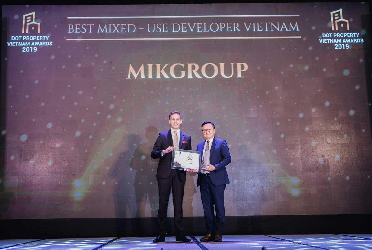 MIKGROUP 3 LẦN ĐƯỢC VINH DANH TẠI DOT PROPERTY VIETNAM AWARDS 2019 - CÔNG TY CỔ PHẦN TẬP ĐOÀN MIKGROUP VIỆT NAM