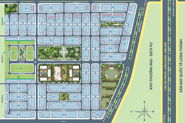 măt bằng dự án century city kim oanh long thành - CENTURY CITY