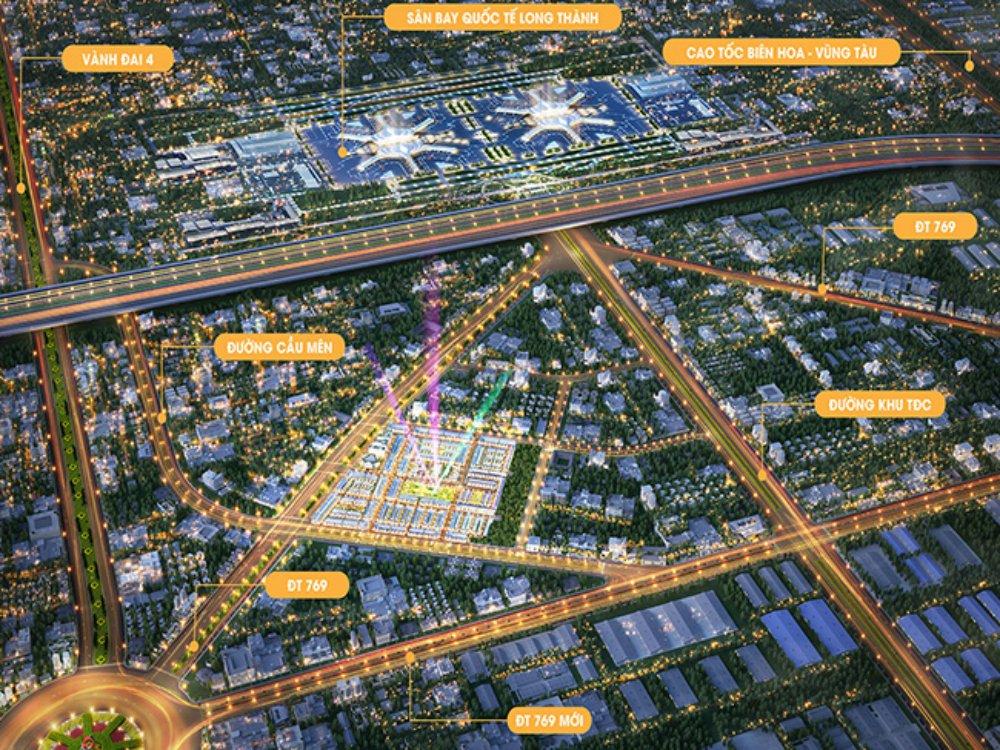 vị trí đất nền century city kim oanh long thành