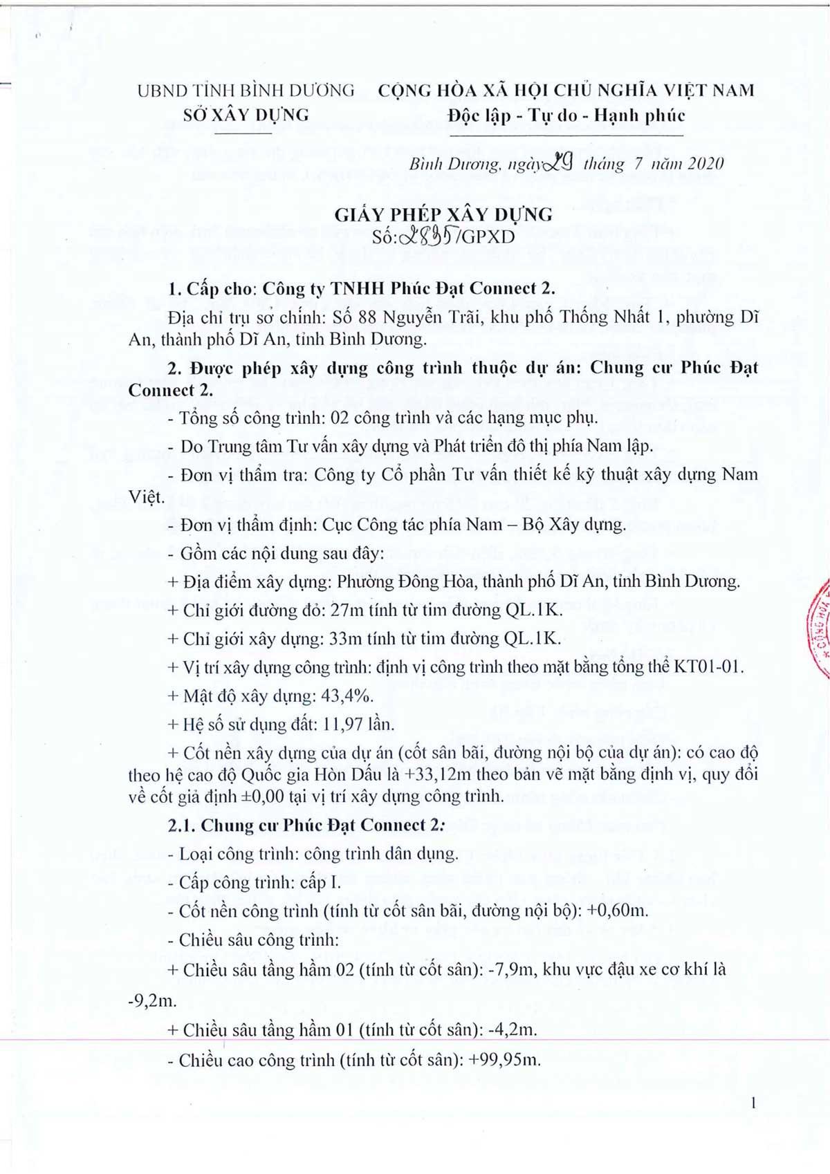 Pháp lý dự án căn hộ chung cư Phúc Đạt Tower Đông Hòa Dĩ An Bình Dương