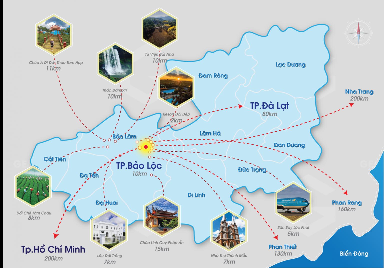Kết nối dự án đất nền nghĩ dưỡng Bảo Lộc Gems Riverside Lâm Đồng