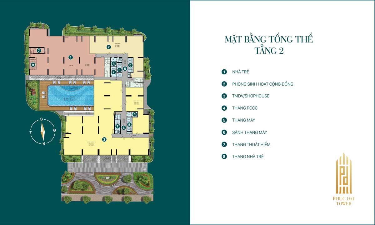 Mặt bằng dự án căn hộ chung cư Phúc Đạt Tower Đông Hòa Dĩ An Bình Dương
