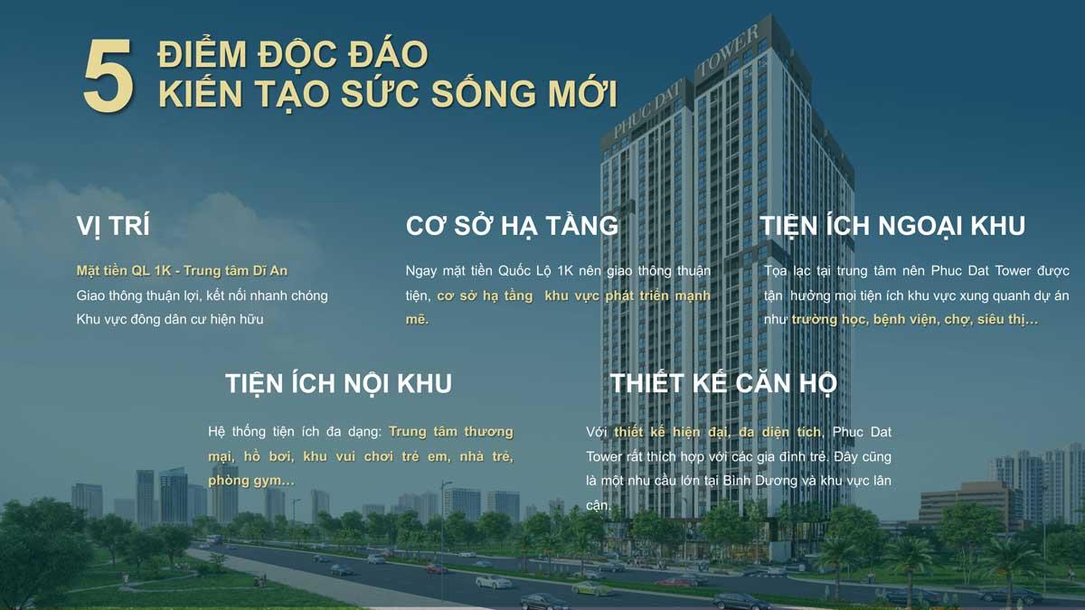 Tiềm năng của dự án căn hộ chung cư Phúc Đạt Tower Đông Hòa Dĩ An Bình Dương
