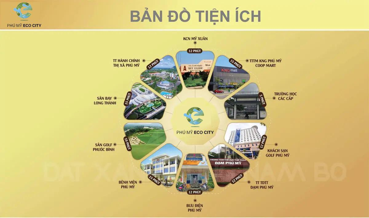 Tiện ích Dự án đất nền Phú Mỹ Eco City, Mỹ Xuân, Bà Rịa, Phú Mỹ Holding