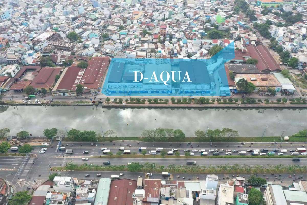 Vị trí thực tế Dự án căn hộ chung cư D - Aqua Bến Bình Đông Quận 8