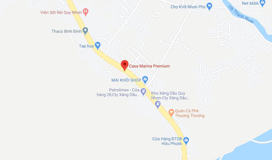 Vị trí Dự án biệt thự Casa Marina Premium Bãi Xếp Quy Nhơn, BGC Land