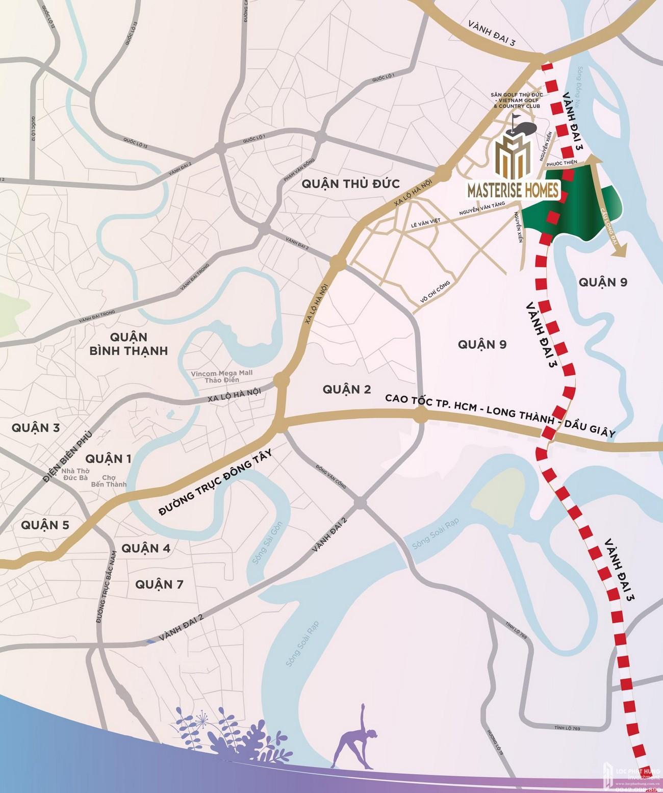 Vị trí Dự án căn hộ chung cư Masteri Centre Point Quận 9, Masterise Home