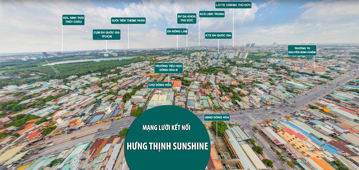 Liên kết vùng Dự án căn hộ Hưng Thịnh Sunshine Đông Hòa, Dĩ An, Bình Dương