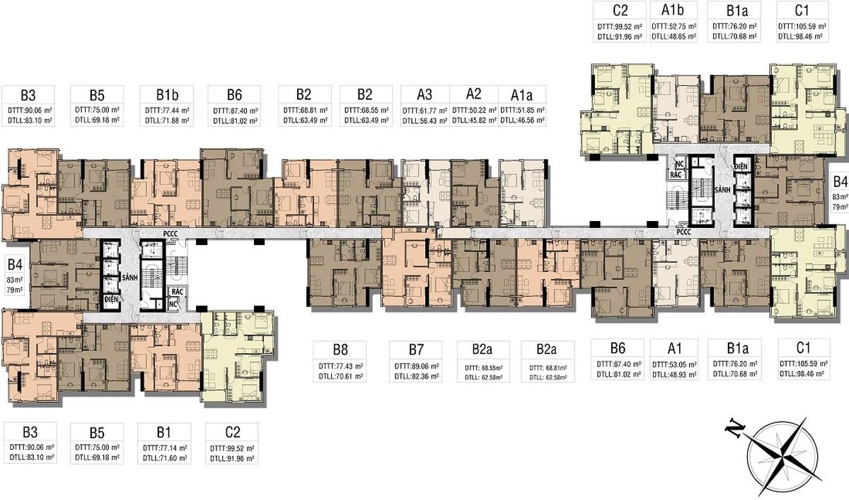 Mặt bằng Dự án căn hộ Hưng Thịnh Sunshine Đông Hòa, Dĩ An, Bình Dương