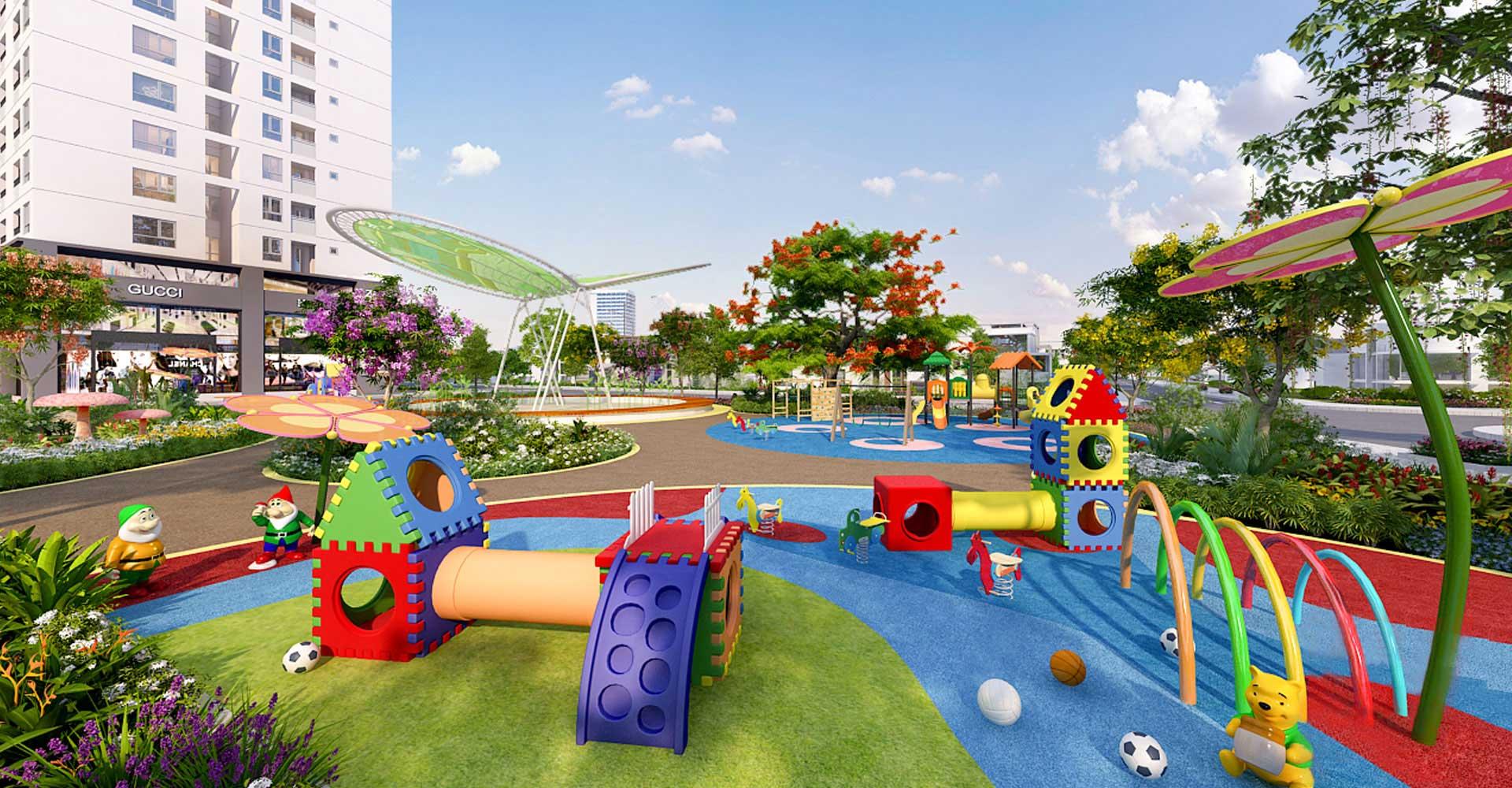 Sân chơi trẻ em tại Dự án căn hộ Hưng Thịnh Sunshine Đông Hòa, Dĩ An, Bình Dương