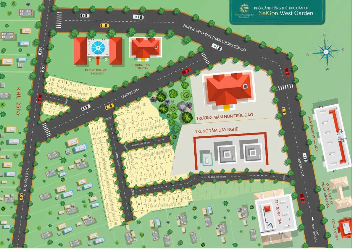 Dự án đất nền Saigon West Garden Bình Tân, Tân Kỳ Tân Quý Bình Tân