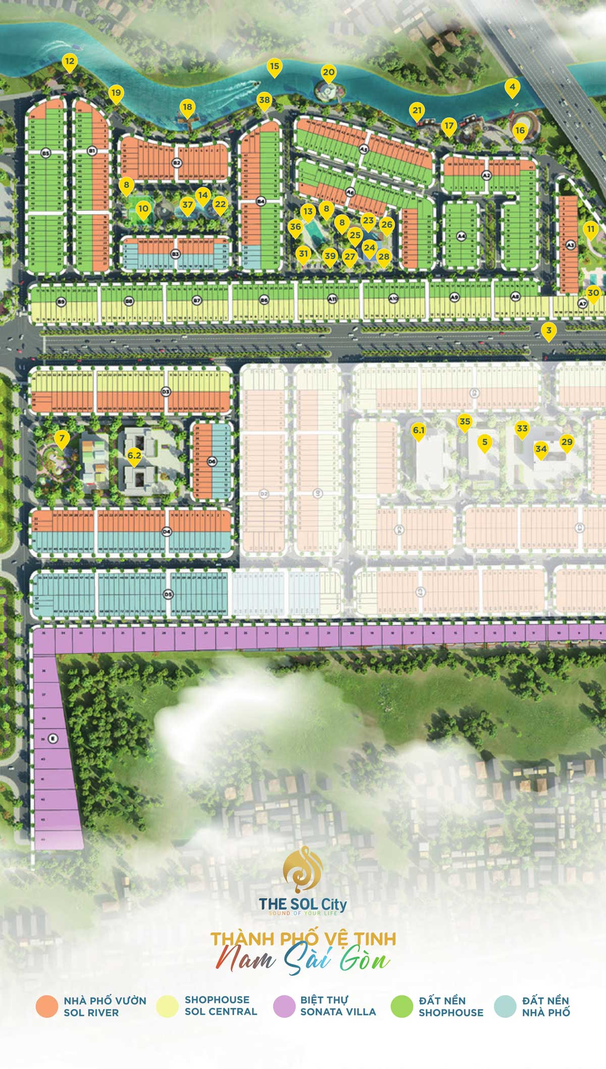 Dự án đất nền The Sol City Nam Sài Gòn, Cần Giuộc, Long An