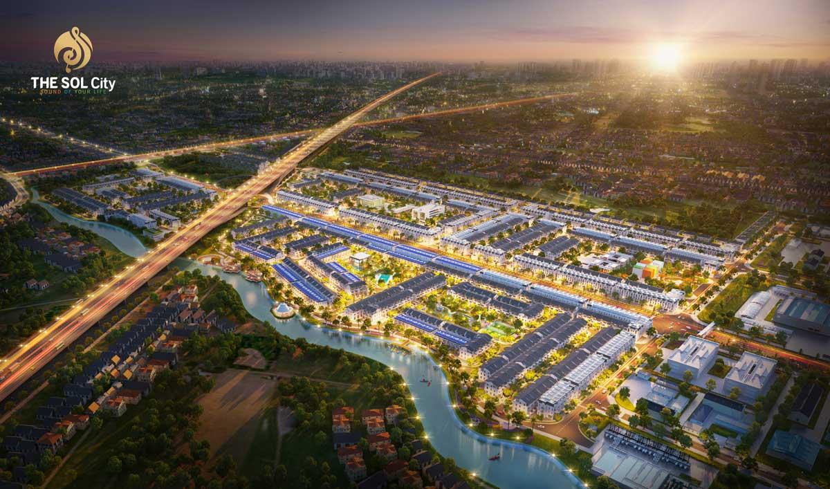 Dự án đất nền khu đô thị The Sol City Nam Sài Gòn, Cần Giuộc, Long An