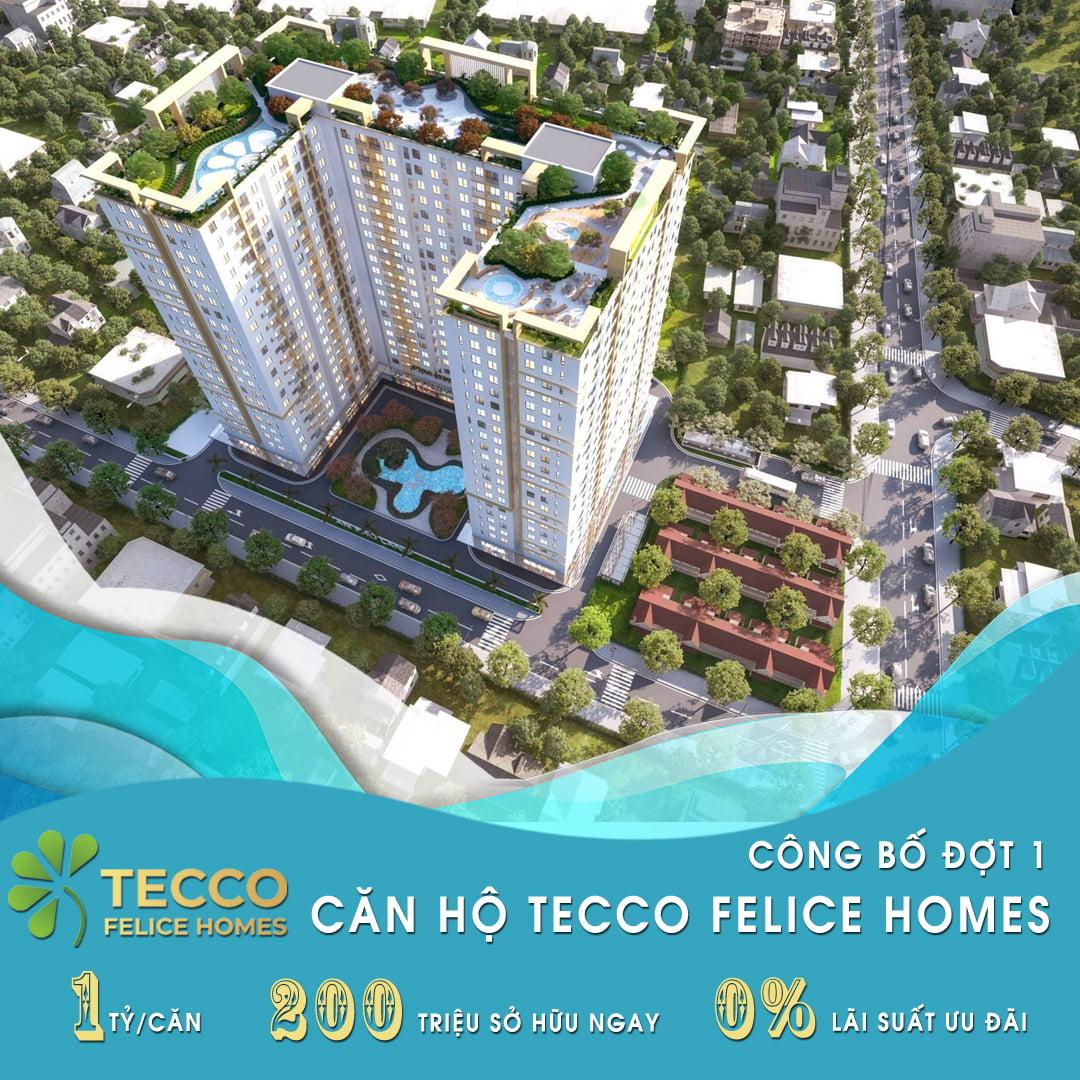 Chỉ 200 triệu sở hữu dự án căn hộ Tecco Felice Homes Lê Thị Trung, Thuận An, Bình Dương