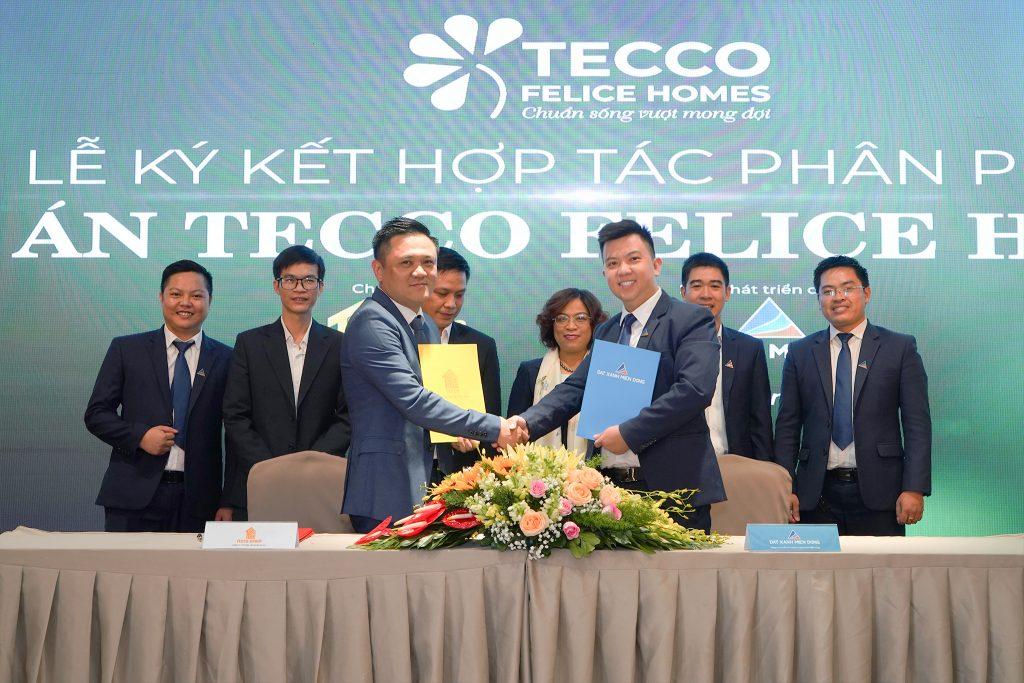 Lễ ký kết hợp tác phân phối dự án Tecco Felice Homes giữa Tecco Group và Đất Xanh Miền Đông
