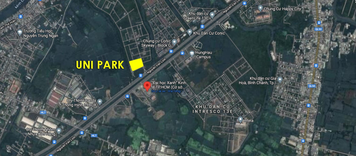 Dự án căn hộ Uni Park Luxury Apartment Nguyễn Văn Linh, Bình Chánh