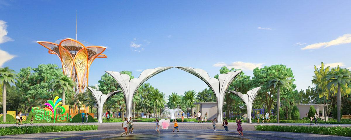Diamond Parkview liền kề với khu công viên trung tâm Gem Sky Park