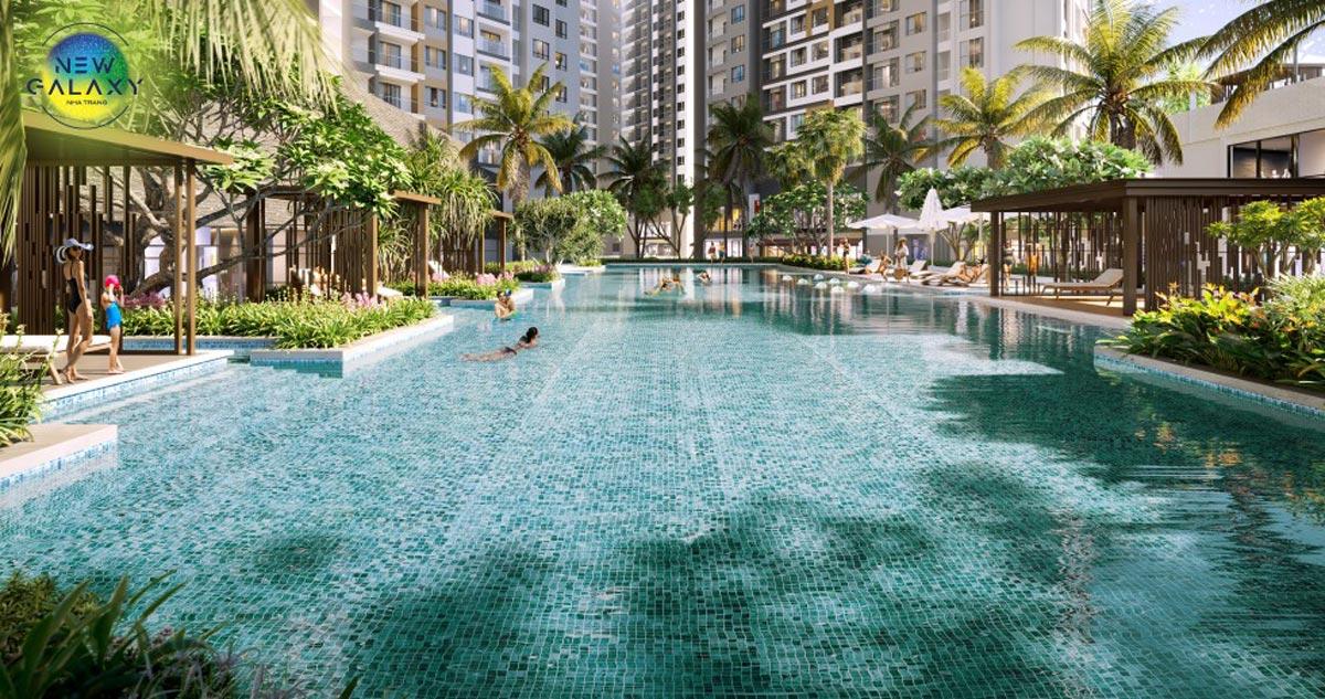 Hồ bơi dự án căn hộ New Galaxy Nha Trang