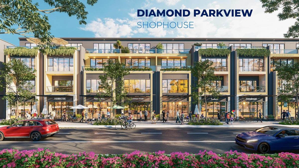 Kiến trúc shophouse Diamond Parkview