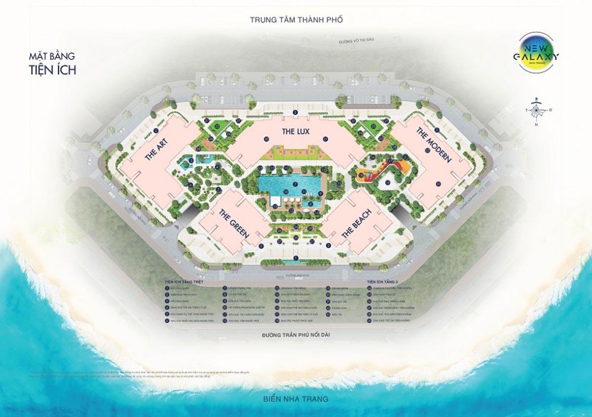 Mặt bằng tầng tiện ích dự án căn hộ New Galaxy Nha Trang