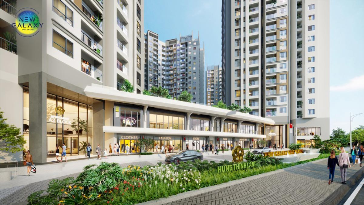 Hệ thống shophouse đẳng cấp tại dự án căn hộ New Galaxy Nha Trang