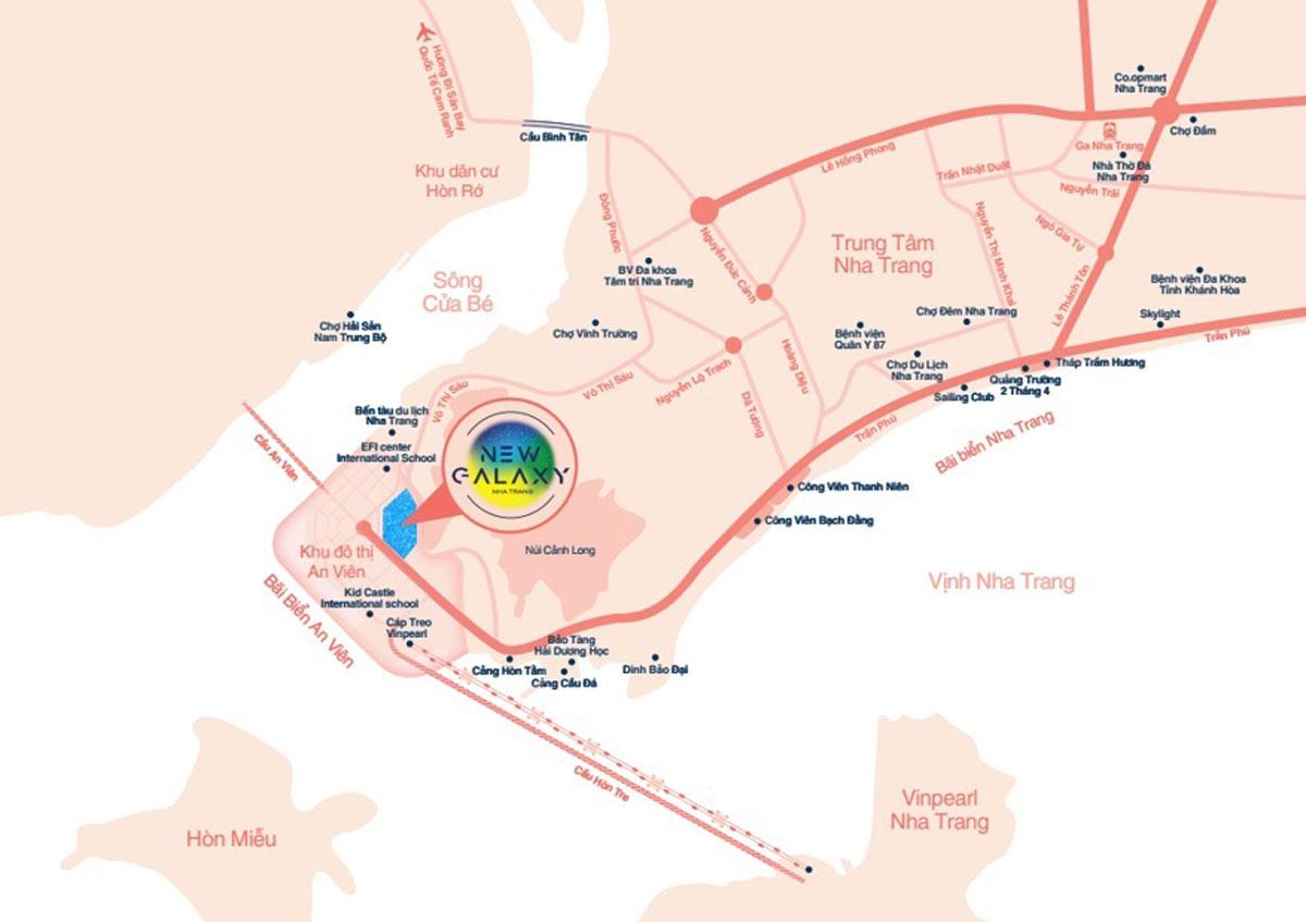 Vị trí dự án căn hộ New Galaxy Nha Trang